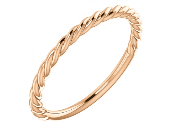 Diamond Fashion Rings - Twisted Rope Band