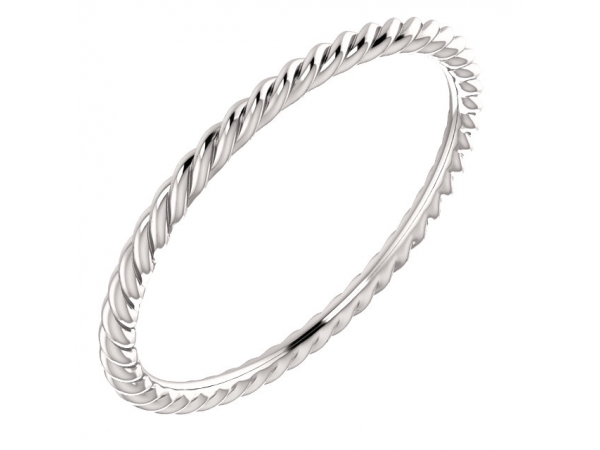 Diamond Fashion Rings - Skinny Rope Band