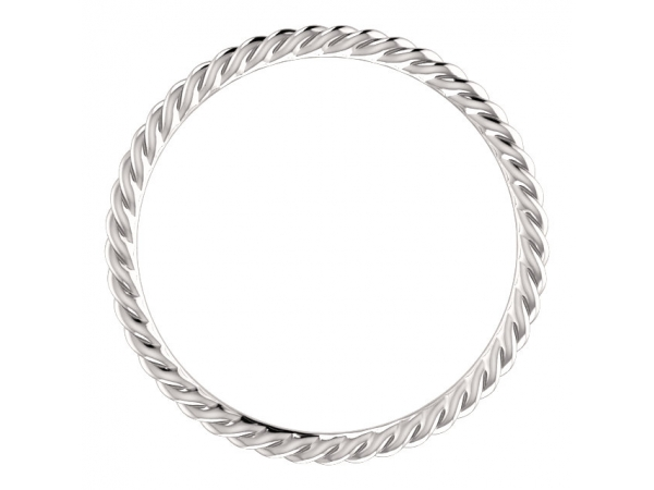 Diamond Fashion Rings - Skinny Rope Band - image #2