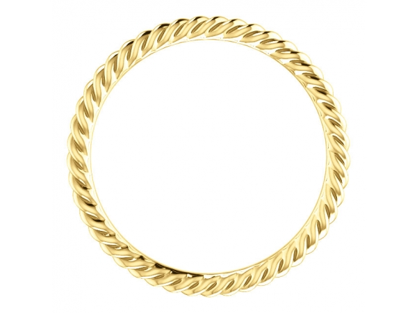 Diamond Fashion Rings - Skinny Rope Band - image 2