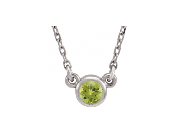 Gemstone Necklaces - Genuine Peridot Necklace