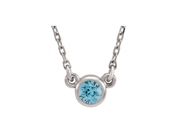 Gemstone Pendants - Genuine Zircon Necklace