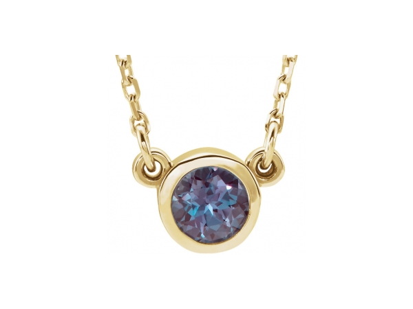 Gemstone Necklaces - Lab-Created Alexandrite Necklace