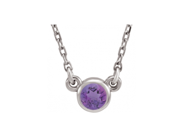 Colored Stone Necklaces - Imitation Amethyst Necklace