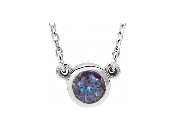 Colored Stone Necklaces - Imitation Alexandrite Necklace