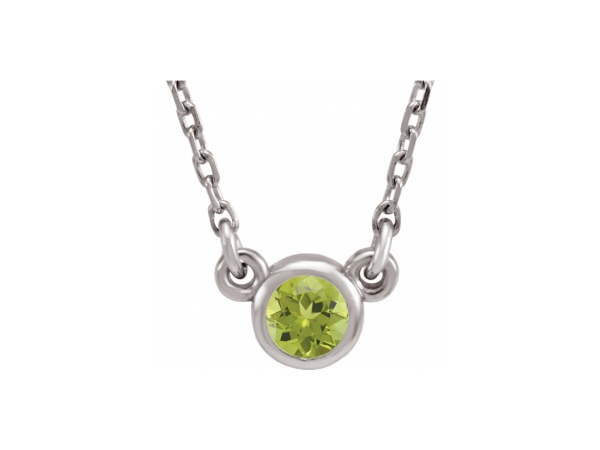 Colored Stone Necklaces - Imitation Peridot Necklace