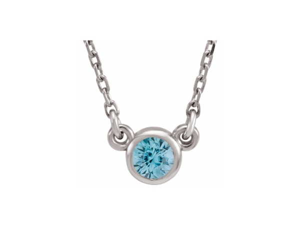 Gemstone Necklaces - Imitation Zircon Necklace
