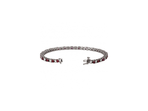 Gemstone Bracelets - Genuine Ruby Bracelet - image #2