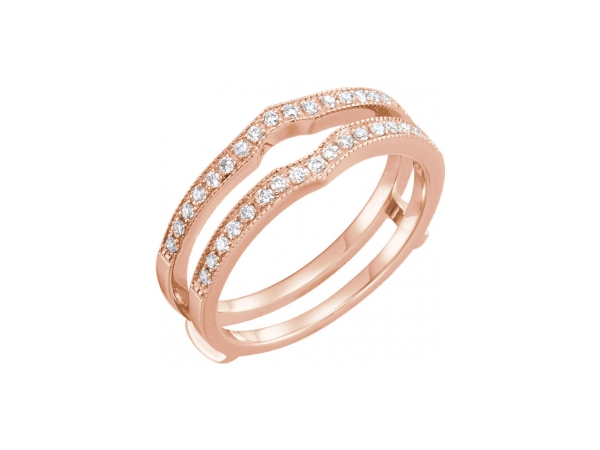 Engagement Rings - 14K Rose Gold Engagement Ring Guard