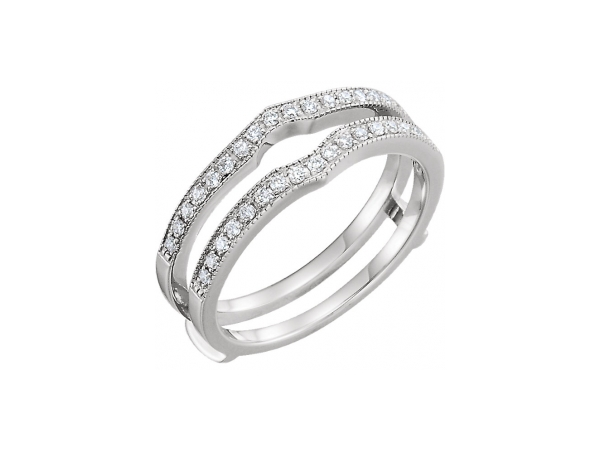 Engagement Rings - 14K White Gold Engagement Ring Guard