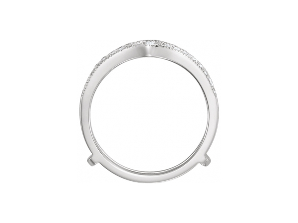 Engagement Rings - 14K White Gold Engagement Ring Guard - image #2