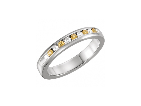 Anniversary Bands with Diamonds and Gemstones set in Gold, Silver, Platinum, Titanium.  Create your own custom jewelry or sel