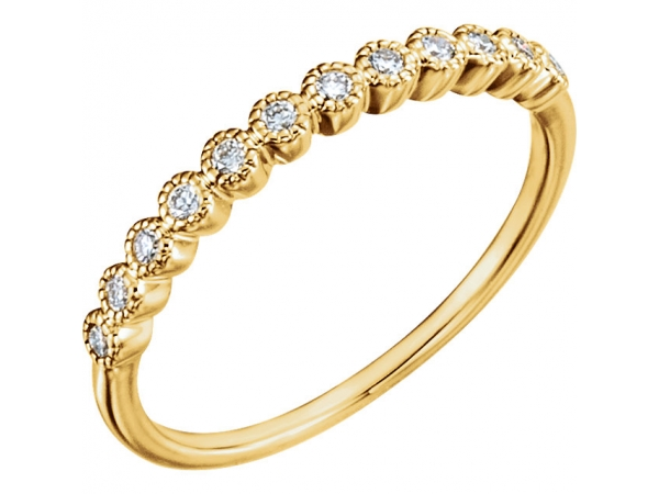 Anniversary Band - 14K Yellow 1/6 CTW Diamond Anniversary Band Size 4.5