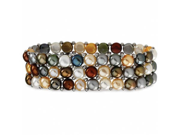 Gemstone Bracelet - Polished Sterling Silver Gemstone Bracelet