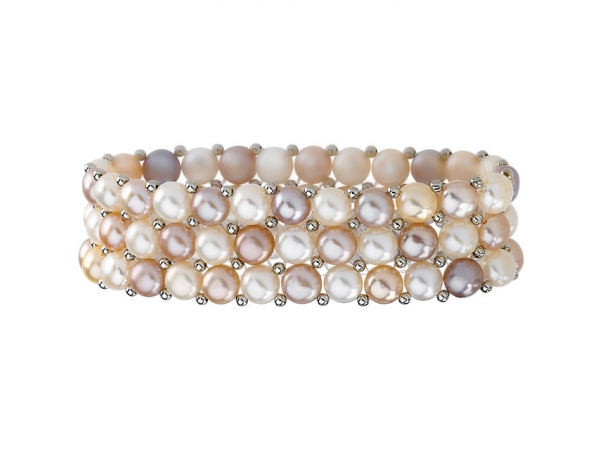 Freshwater Cultured Pearl Stretch Bracelet by Stuller