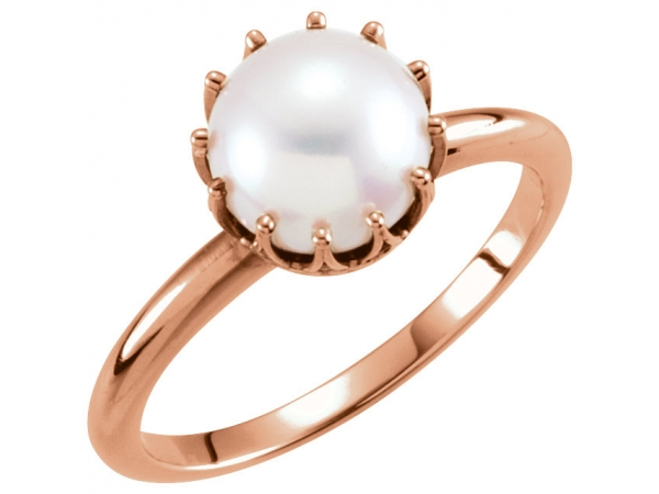 Gemstone Rings - Crown Pearl Ring