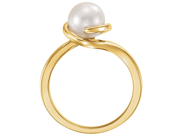 Gemstone Rings - Bypass Pearl Ring - image #2