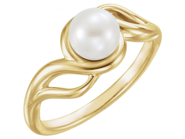 Freeform Pearl Ring by Stuller