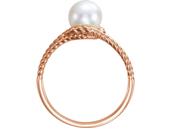 Gemstone Rings - Rope Pearl Ring  - image #2