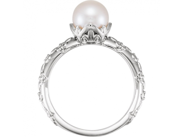 Rings - Vintage-Inspired Pearl Ring - image #2