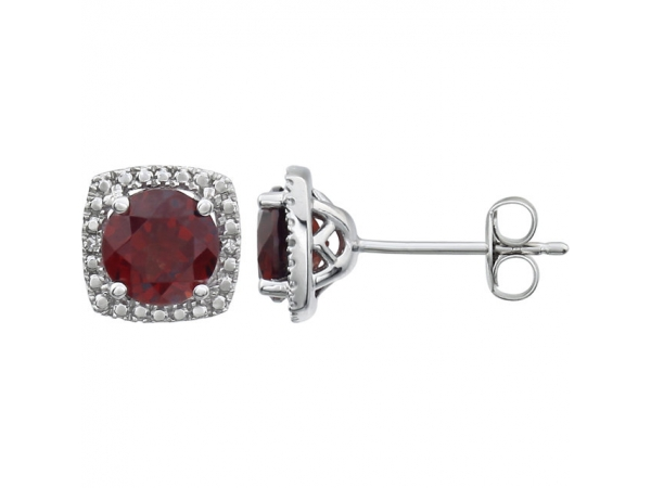 Gemstone Earrings - Garnet Earrings