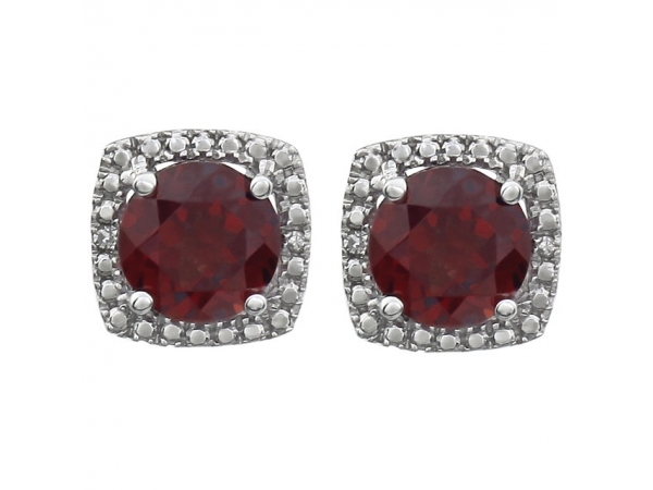 Gemstone Earrings - Garnet Earrings - image #2