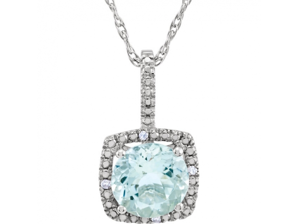 Gemstone Necklaces - Aquamarine Necklace