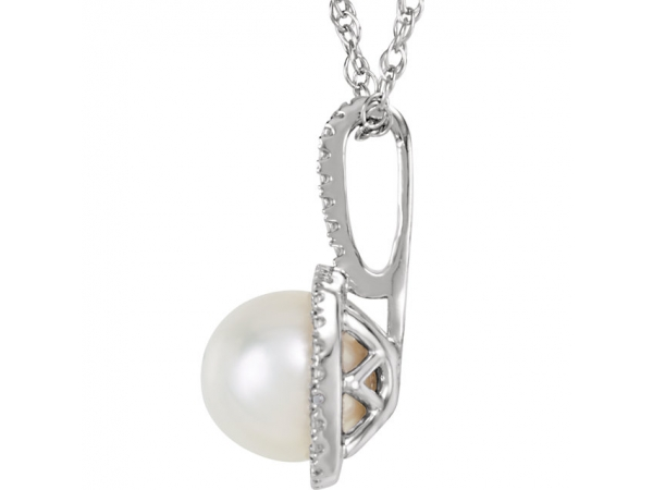 Necklaces - Halo-Style Necklace - image #2