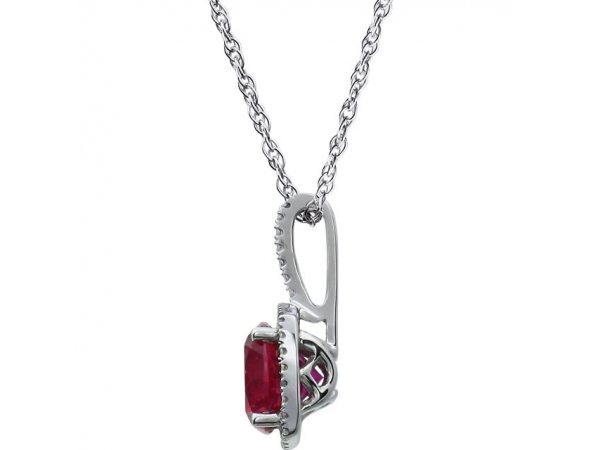 Gemstone Necklaces - Ruby Necklace - image #2