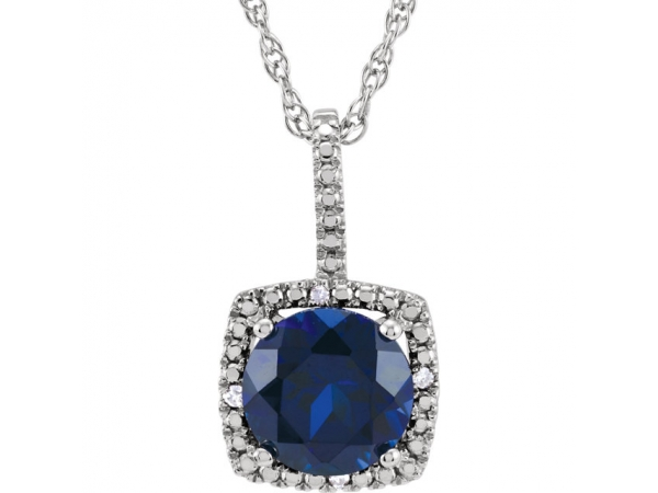 Gemstone Necklaces - Blue Sapphire Necklace