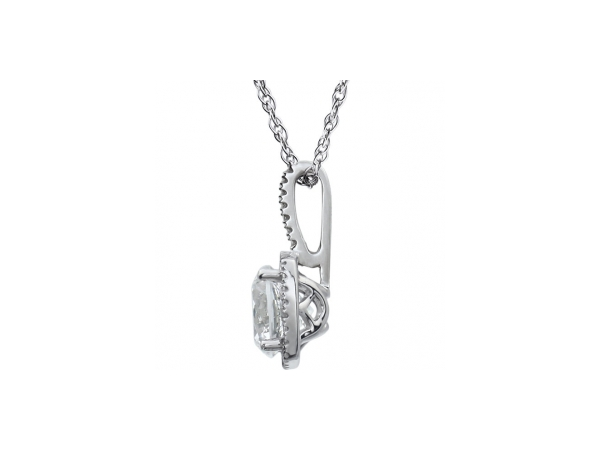 Gemstone Necklaces - White Sapphire Necklace - image #2