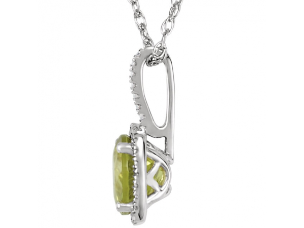 Gemstone Pendants - Genuine Peridot Necklace - image #2