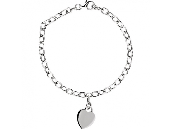 Rolo Bracelet with Charm by Stuller