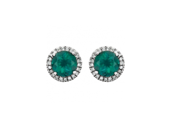 Gemstone Earrings - Emerald Earrings - image 2