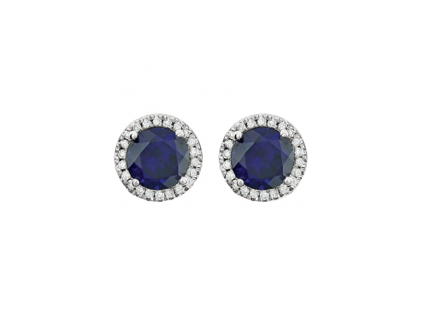 Gemstone Earrings - Sapphire Earrings - image #2