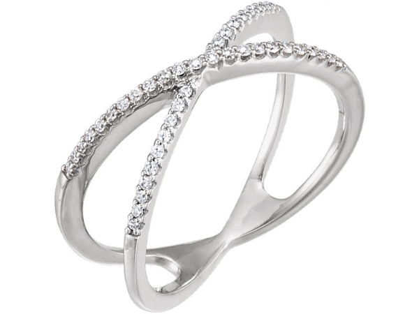 Accented Criss-Cross Ring   by Stuller