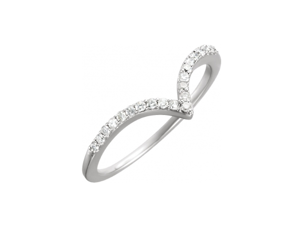 Diamond Ring - Polished 14K White Gold Diamond Ring