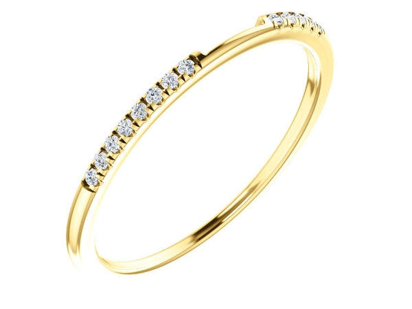 Two-Stone Engagement  Ring Matching Band - 14K Yellow 1/10 CTW Diamond Matching Band
