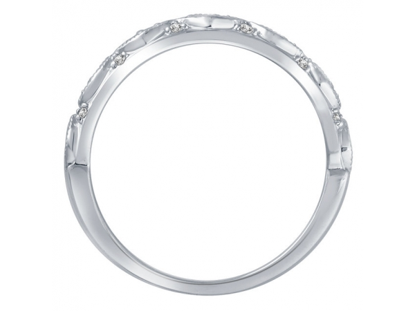 Diamond Bands - 14K White Gold Anniversary Band - image 2