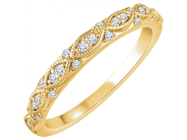 14K Yellow Gold Anniversary Band - 14K Yellow Gold Anniversary Band
