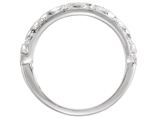 Wedding & Anniversary Bands - 14K White Gold Anniversary Band - image #2