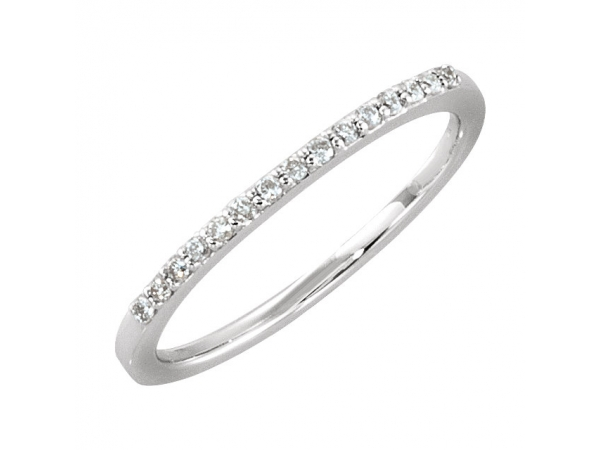 Anniversary Band - 14K White 1/8 CTW Diamond Anniversary Band Size 4.25