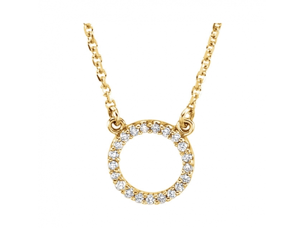 Diamond Necklace - 14K Yellow Gold Diamond Necklace