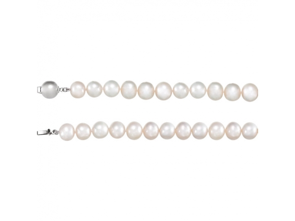 Pearl Necklace - Sterling Silver Freshwater Cultured Pearl 18