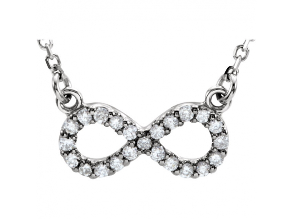 Infinity-Inspired Necklace - 14K White Diamond Infinity-Inspired 16