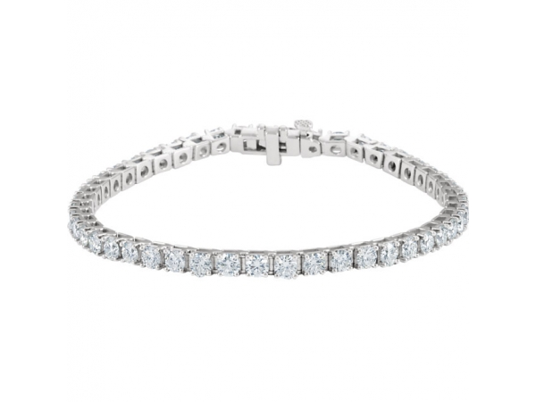 Diamond Bracelet - Polished 18K White Gold Diamond Bracelet