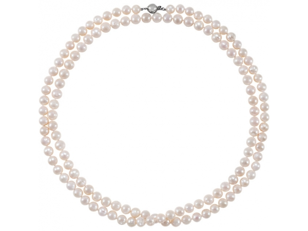 Gemstone Necklaces - Freshwater Cultured Pearl Necklace - image #2
