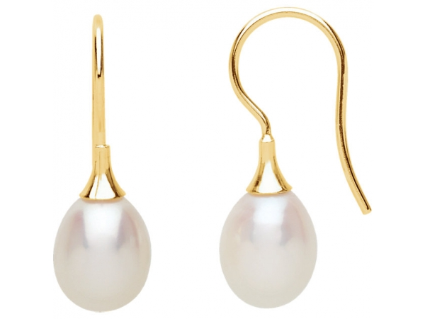 Freshwater Cultured Pearl Earrings - 14K Yellow Freshwater Cultured Pearl Earrings