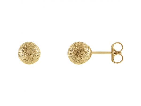 Stardust Ball Earrings  - 14K Yellow 6 mm Stardust Ball Earrings