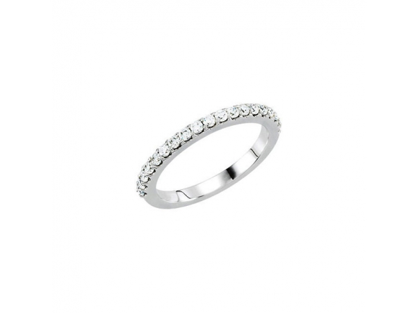 Accented Engagement Ring Matching Band - Palladium 1/2 CTW Diamond Band for 5.8 & 6.5mm Engagement